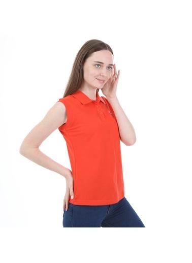 Robe di Kappa Rdk Kadın Kolsu Polo T-Shirt Wws  Kırmızı